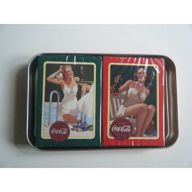 Vintage Coca-Cola Playing Cards in Tin - Image 4 of 5