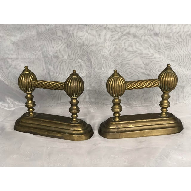 Late 19th Century Antique Victorian Fire Dogs- a Pair For Sale - Image 5 of 13