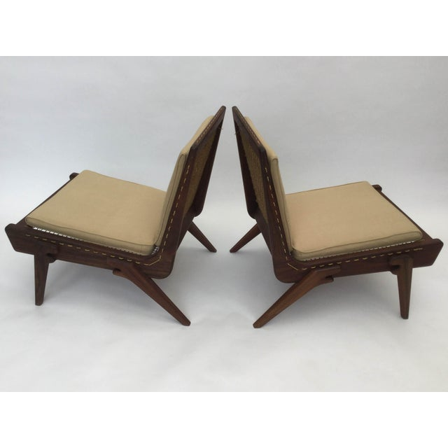 2010s Pair of limited edition George Allen lounge chairs For Sale - Image 5 of 8
