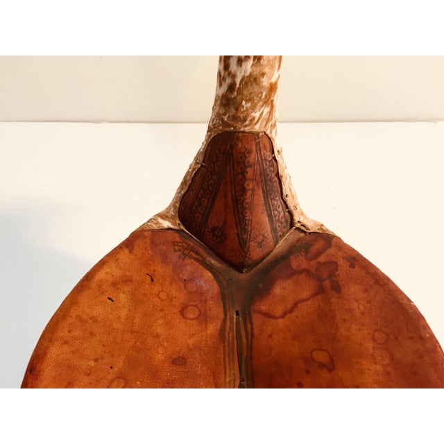 Gold Tuareg Leather Camel Saddle From Niger Agadez Africa For Sale - Image 8 of 12