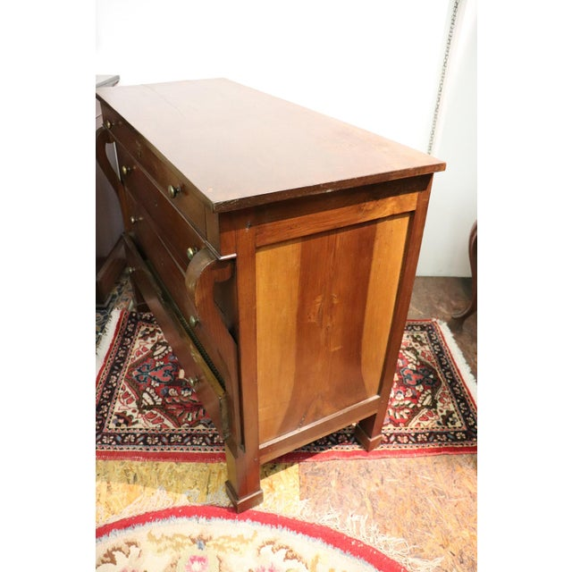 Early 19th Century 19th Century Italian Empire Walnut Commode or Chest of Drawers For Sale - Image 5 of 10