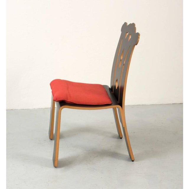 Pair of Robert Venturi Chippendale Chairs for Knoll For Sale - Image 4 of 10