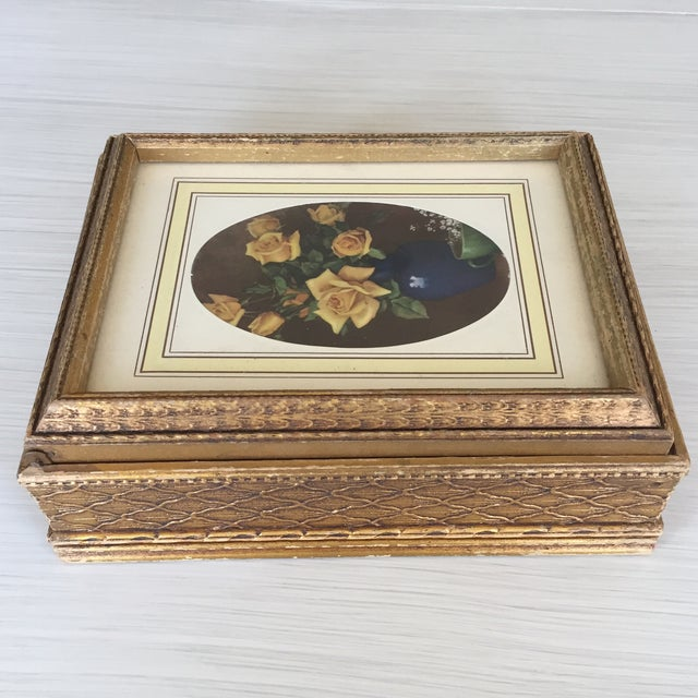 Antique Carved Wooden Jewelry Box - Image 3 of 11