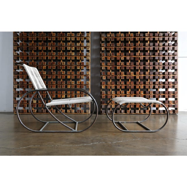 Bronze Outdoor Lounge Chair and Ottoman by Kipp Stewart for Terra of California For Sale - Image 13 of 13