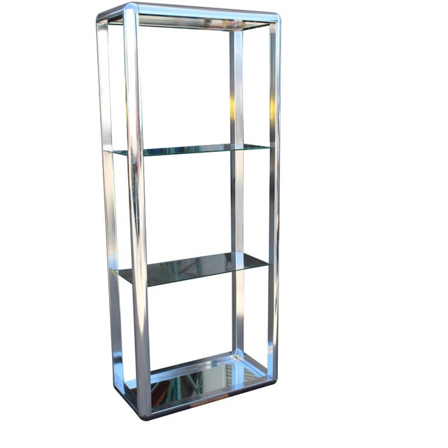 1970s Chrome Mirrored Display Case Stand For Sale - Image 4 of 13