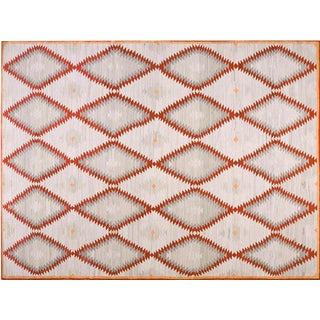 Diamond Navajo Style Wool Rug - 9′ × 12′ For Sale