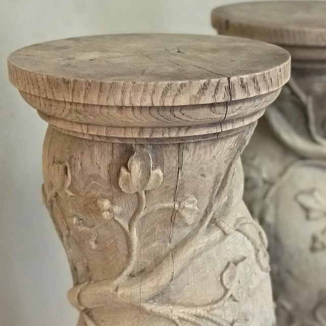 Pair 19th Century Barley Twist Stripped Pedestals For Sale - Image 10 of 13