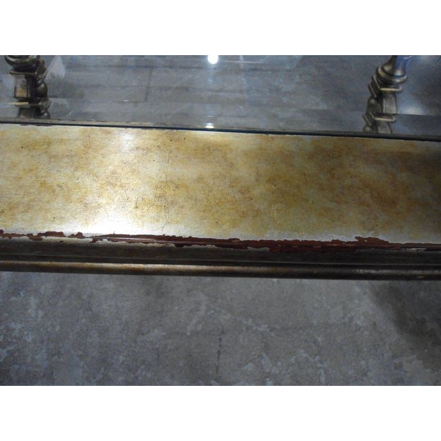 La Barge Gold Wood Framed Glass Top Coffee Table - Image 6 of 7