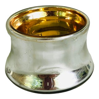 1950s Traditional Bohemian Mercury Glass Salt Cellar For Sale