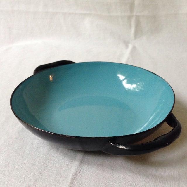 Blue & Black Enameled Bowl For Sale - Image 4 of 6