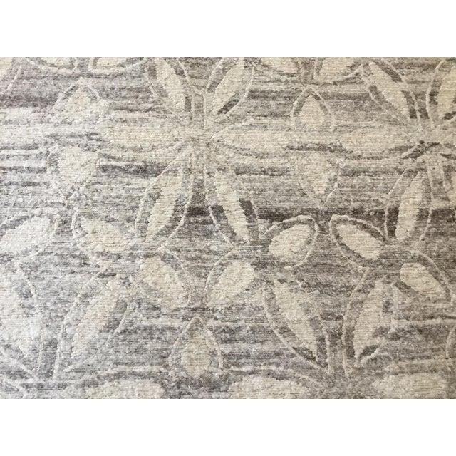 Modern Geometric Floral Area Rug - 7′9″ × 9′9″ - Image 2 of 4
