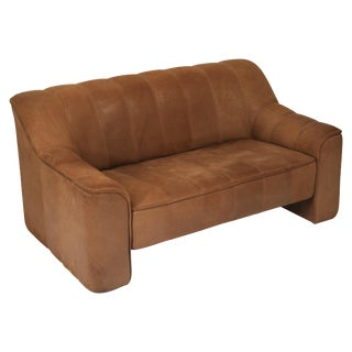 De Sede Aged Buffalo Leather Ds-44 Adjustable Loveseat Sofa, 1970s For Sale