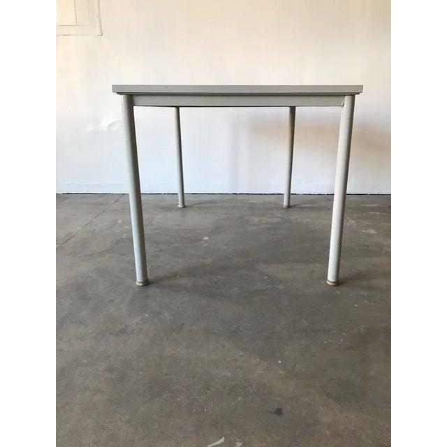 Bauhaus 1935 Le Corbusier Steel & Wood Desk/Table For Sale - Image 3 of 7