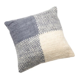 Country Knit Gingham Throw Pillow For Sale