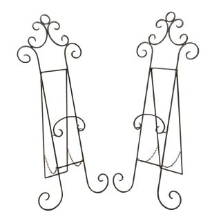 Hollywood Regency Easel Stands - a Pair For Sale