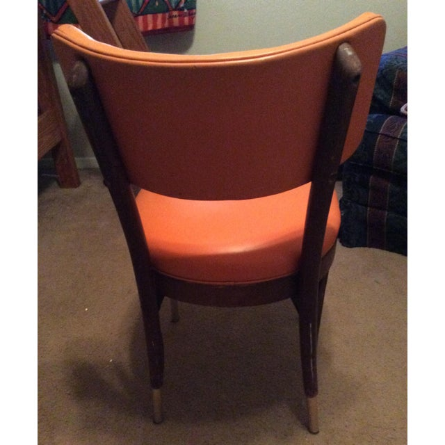Shelby Williams Vintage Retro Orange Side Chair For Sale - Image 5 of 9