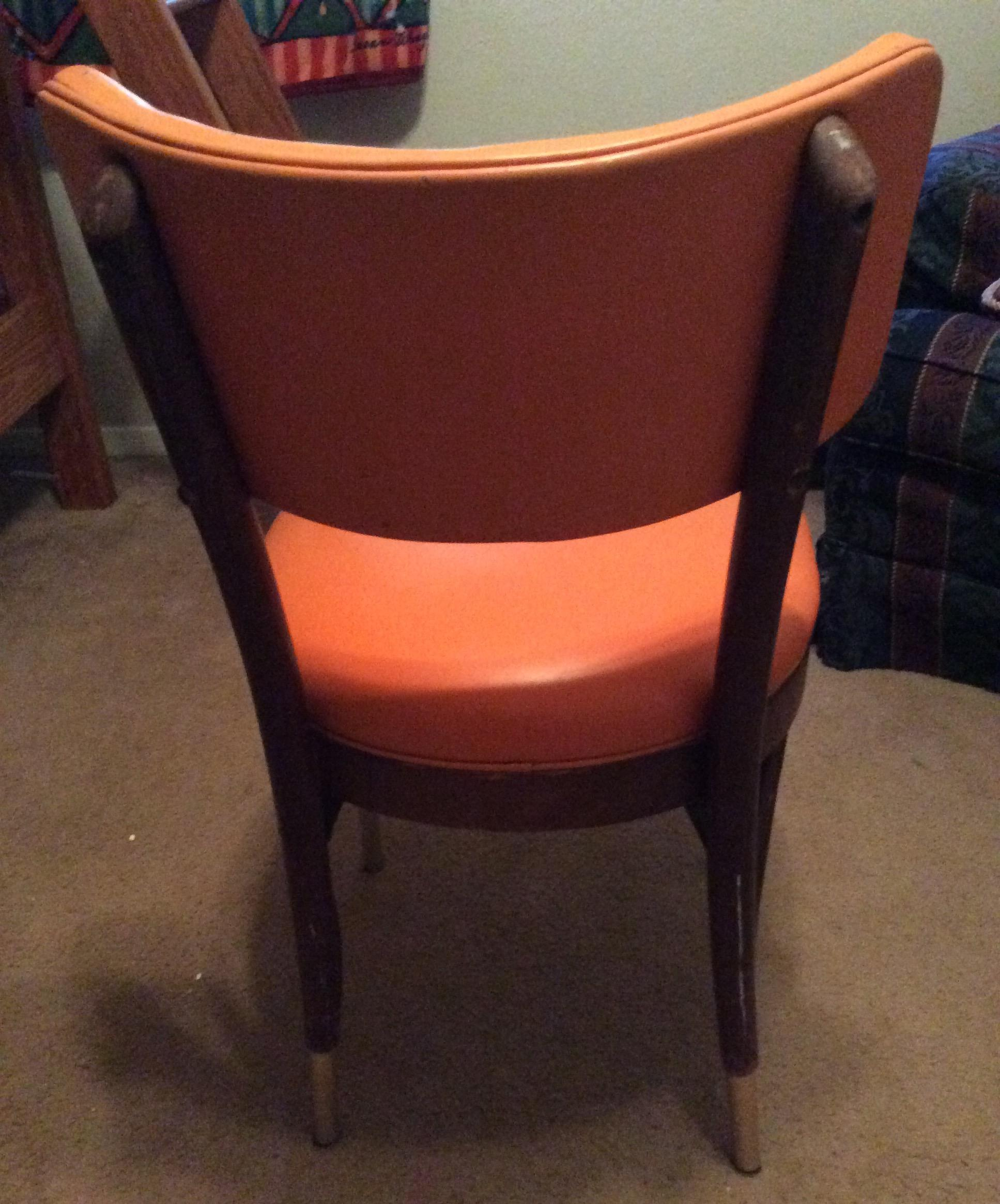 Shelby Williams Vintage Retro Orange Side Chair   Image 5 Of 9