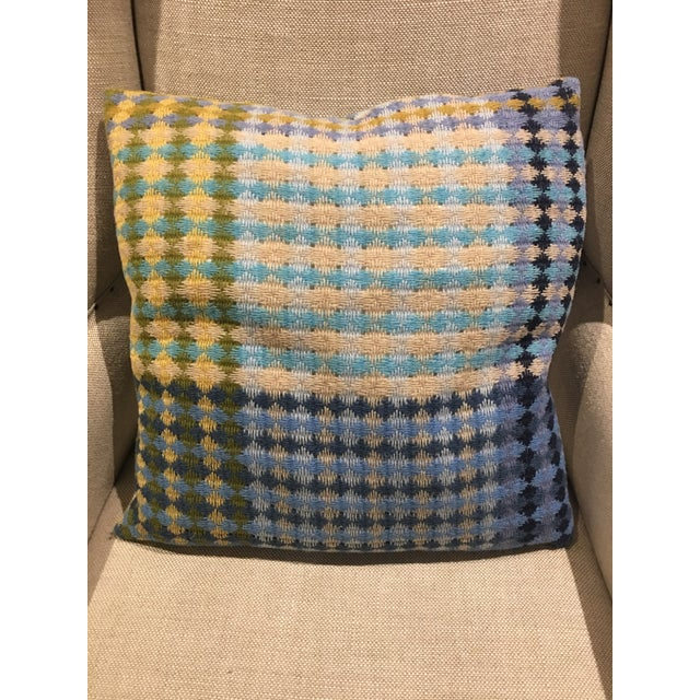 Missoni Blue & Yellow Wool Pillow - Image 2 of 6