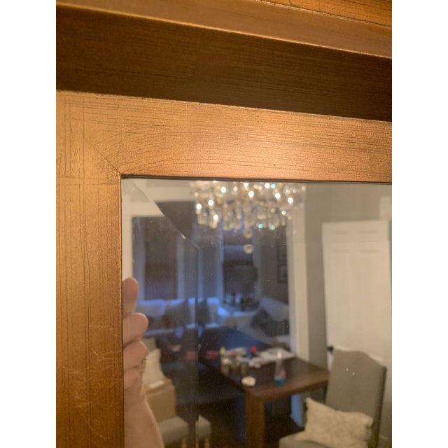 Early 21st Century Art Deco Gold Leaf Beveled Glass Mirror For Sale - Image 5 of 13