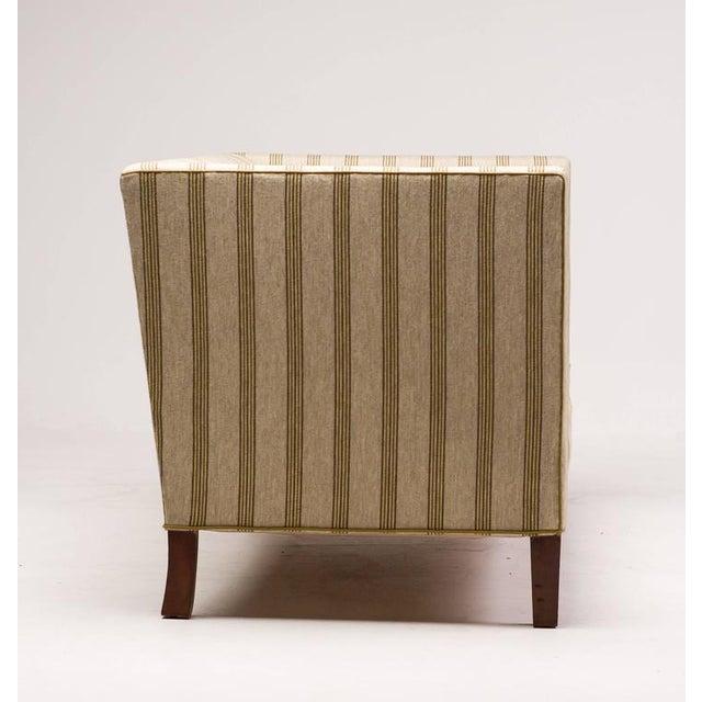 1940s Striped Wool Sofa Fritz Hansen, Denmark, 1940s For Sale - Image 5 of 10