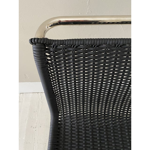 Black Mies Van Der Rohe Side Chairs- a Pair For Sale - Image 8 of 11
