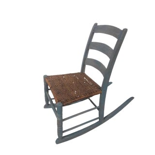 Americana Hudson Valley Woven Seat Children's Rocking Chair For Sale