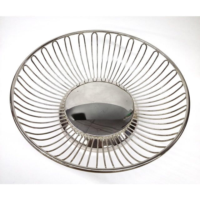 Mid-Century Silver Plate Openwork Modern Fruitbowl - Image 3 of 8