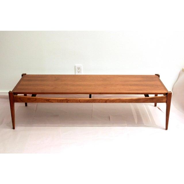 Midcentury Modern Bassett Artisan Collection Walnut Coffee Table