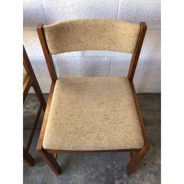 Wood Vintage Mid Century Danish Modern Style Dining Chairs (Set of Four) For Sale - Image 7 of 13