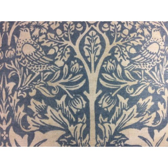 "Boho Chic William Morris ""Brer Rabbit"" in Duck Egg Blue & Off-White Pillow Covers - a Pair For Sale - Image 3 of 4"
