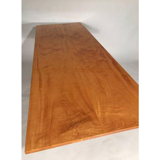 Modern Custom Trestle Dining Table designed by Jack Dunbar For Sale - Image 3 of 6