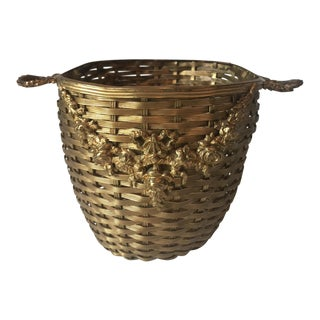 French Woven Basket For Sale