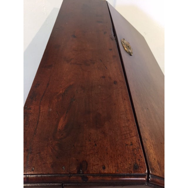 Walnut 19th Century Traditional Bombe Desk/Chest of Drawers For Sale - Image 7 of 13