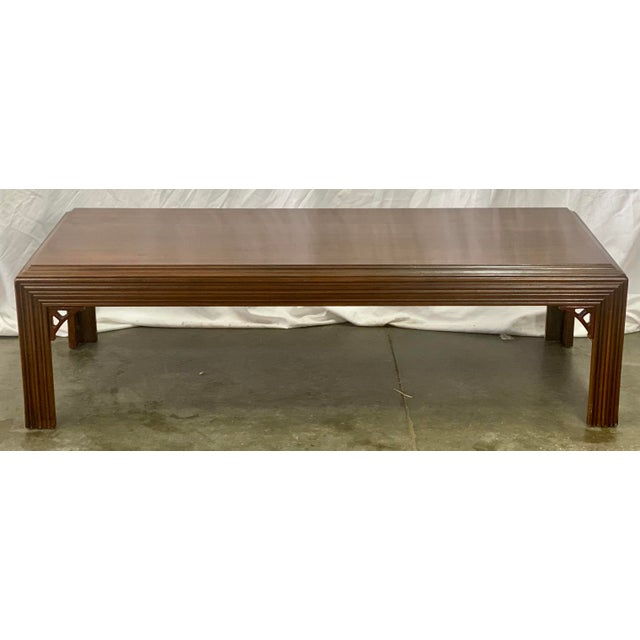 Vintage Mahogany Lane Altavista Chippendale Coffee Table For Sale - Image 9 of 9