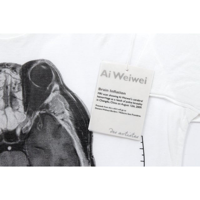 Contemporary Abstract Limited Edition Framed T Shirts by Ai Weiwei - a Pair For Sale - Image 10 of 13