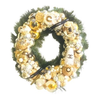 Vintage Jewelry Christmas Wreath For Sale