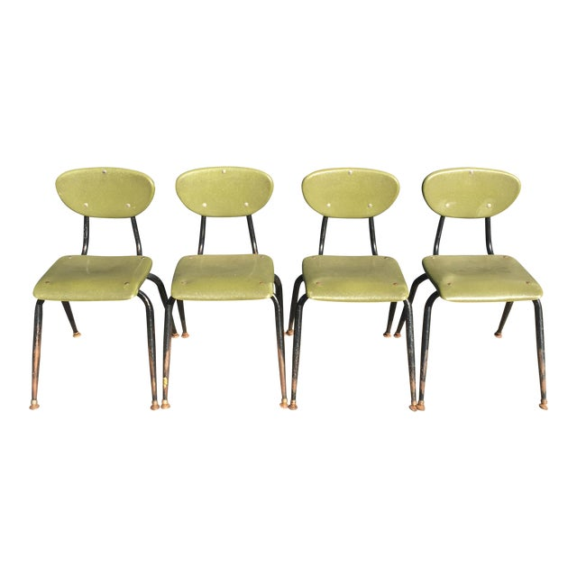 Mid-Century Metal Kids Chairs - Set of 4 - Image 1 of 5