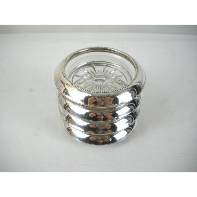 Whiting & Co. Sterling Silver Coasters - Set of 4 For Sale In Orlando - Image 6 of 9