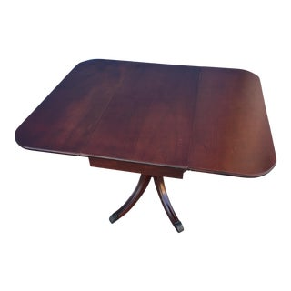 Duncan Phyfe Style Red Mahogany Drop Leaf Table For Sale
