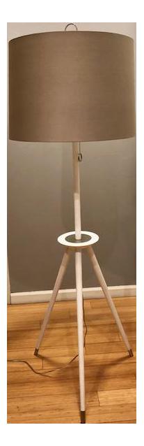 Jonathan Adler Ventana Ivory Wood Floor Lamp
