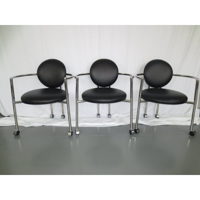 Stanley J Friedman for Brueton Moon Chairs - S/3 - Image 2 of 6