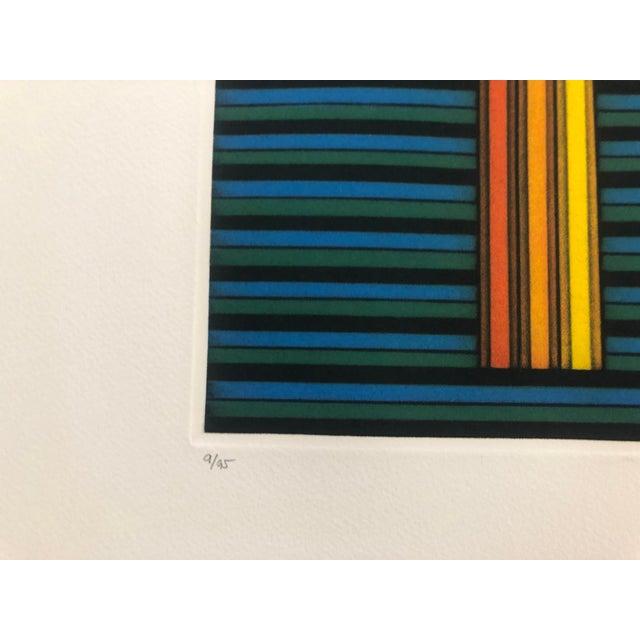"Modern Kazuhisa Honda Color Mezzotint ""Three Pencils,"" 1983 For Sale - Image 3 of 6"