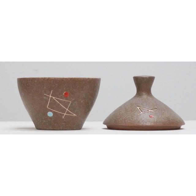 Geometric Ceramic Pot Sculpture For Sale - Image 5 of 6