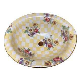 Mackenzie-Childs Buttercup Bathroom Sink For Sale
