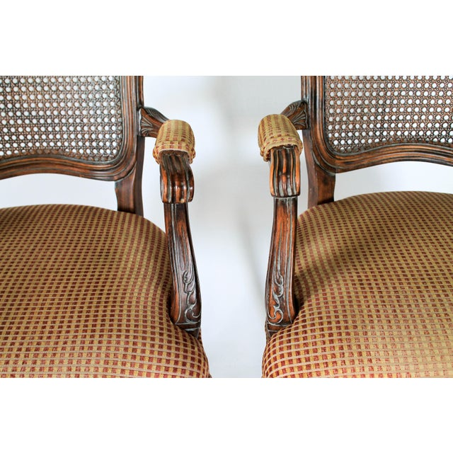Caned Fauteuils, a Pair For Sale In Milwaukee - Image 6 of 10