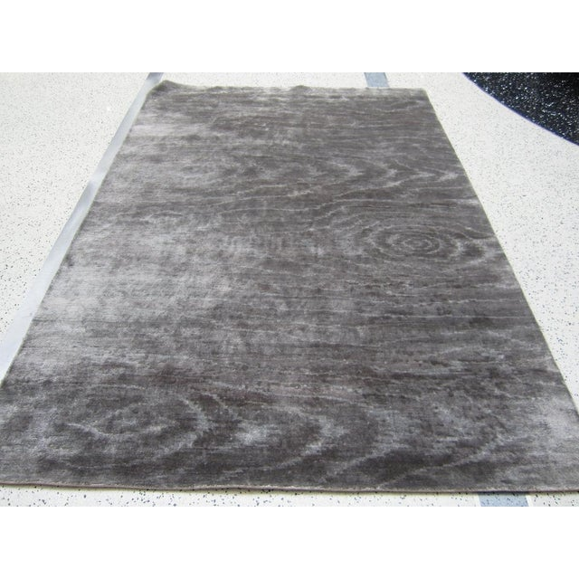 Silver Wood Grain Rug - 5′11″ × 8′8″ - Image 2 of 3