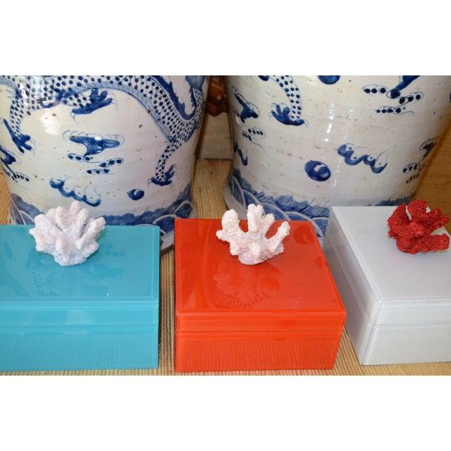 Coral & Orange Glass Trinket Box - Image 11 of 11