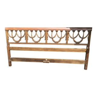20th Century Baker Fine Furniture King Carved Swag Headboard For Sale