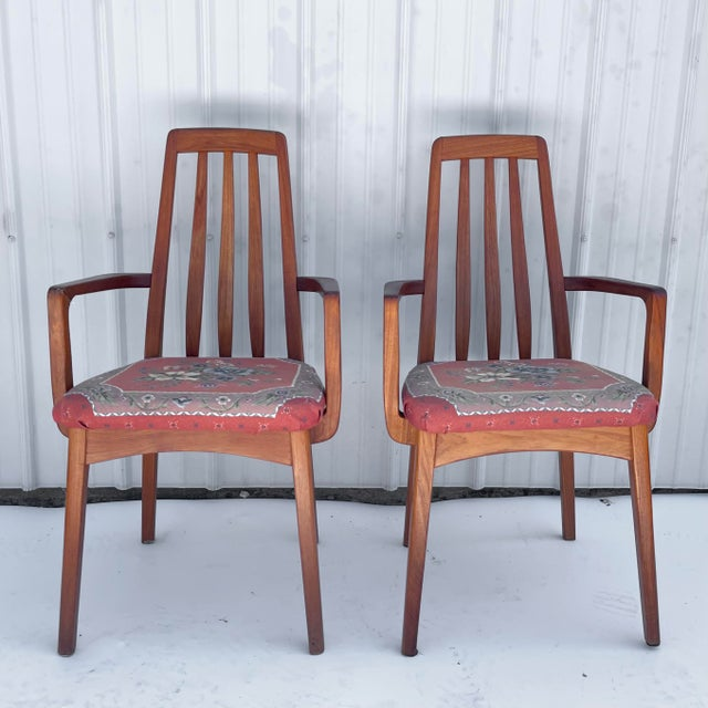Vintage Modern Teak Arm Chairs- a Pair For Sale - Image 13 of 13