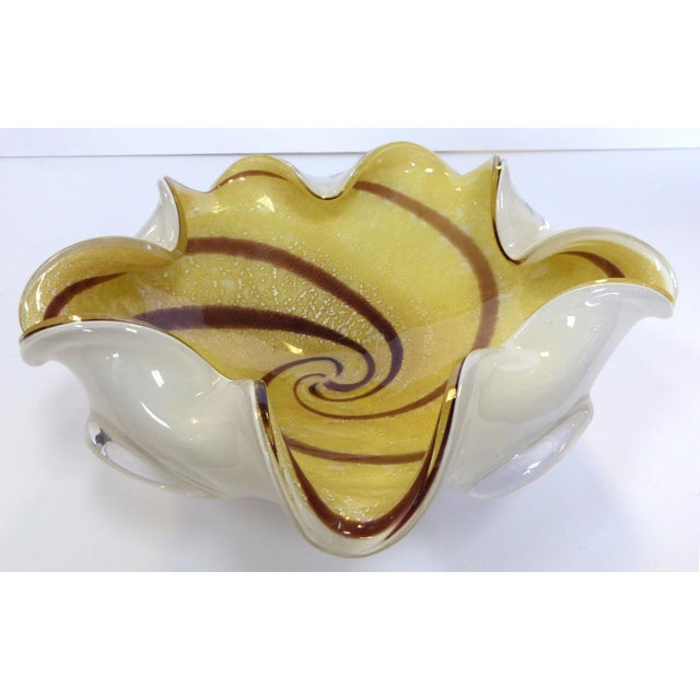 Murano Murano Cased Glass Floriform Bowl For Sale - Image 4 of 8